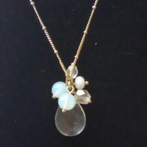 Vintage Avon Dainty Clustered Quartz Necklace.